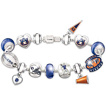 Auburn Tigers Fan Charm Bracelet: Go Tigers! #1 Fan