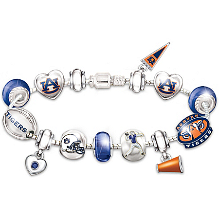Auburn Tigers Fan Charm Bracelet: Go Tigers! #1 Fan