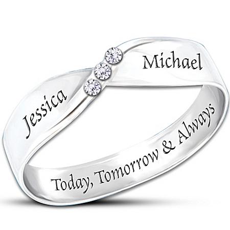 Personalized Diamond Ring: Infinite Love  – Personalized Jewelry