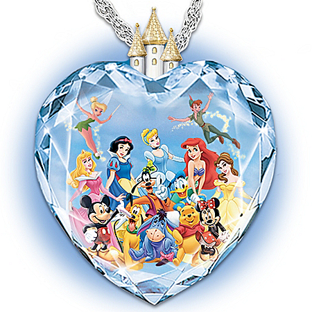 Photo of Magic Of Disney Heart Pendant Necklace by The Bradford Exchange Online