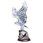 Crystal Eagle Sculpture - Soaring Majesty