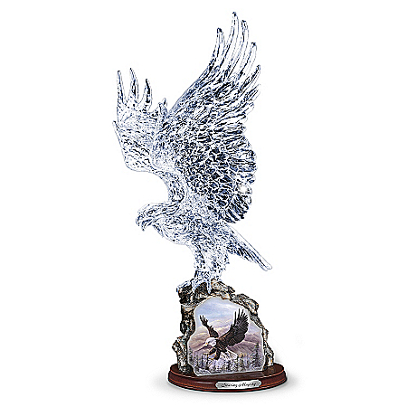 Crystal Eagle Sculpture: Soaring Majesty