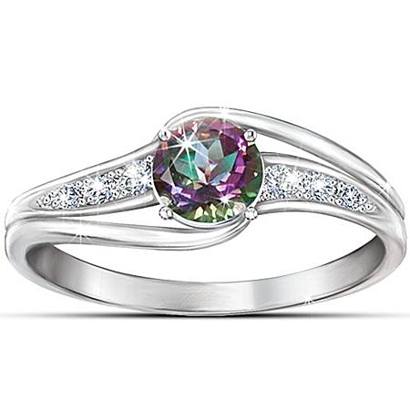 Women's Topaz Ring: Mystic Enchantment