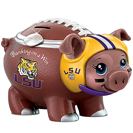 Louisiana State University Football Fan Piggy Bank: Banking On A Win