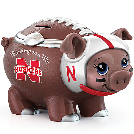 University Of Nebraska Football Fan Piggy Bank: Banking On A Win