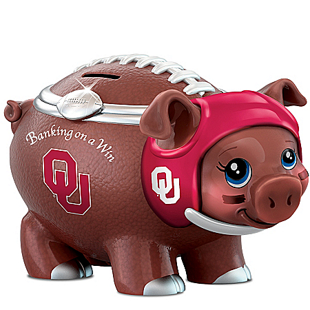 University Of Oklahoma Football Fan Piggy Bank: Banking On A Win