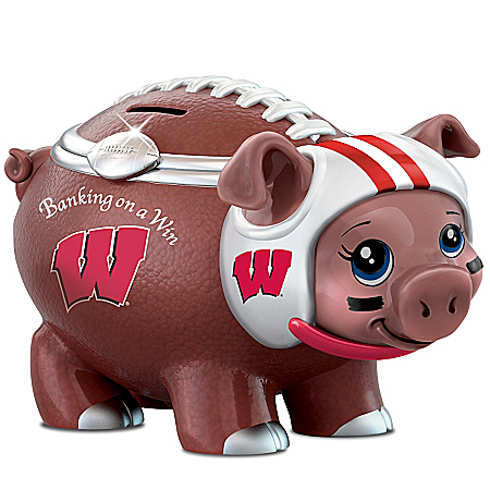 University Of Wisconsin Football Fan Piggy Bank: Banking On A Win