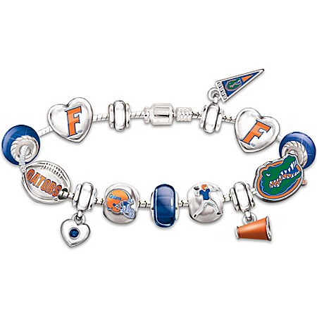Florida Gators Charm Bracelet: Go Gators! #1 Fan