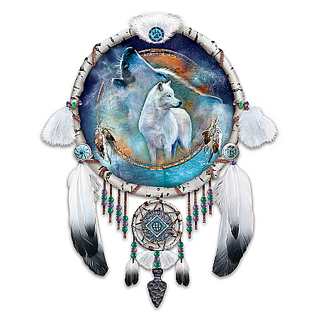 Native American Inspired Dreamcatcher Collector Plate: Souls Of The Night