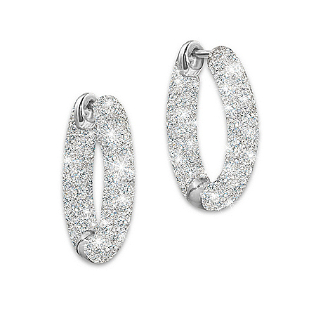 Diamond Earrings: Love's Whisper by The Bradford Exchange Online - Lovely Exchange