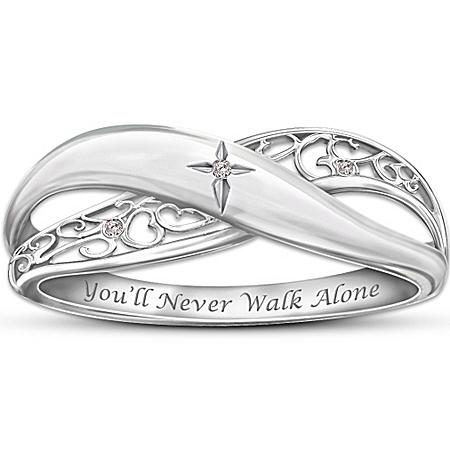 Religious Diamond Ring: Pure Faith