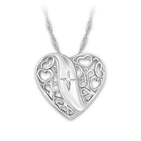 Pendant Necklace: Pure Faith Diamond Pendant Necklace