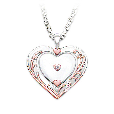 Diamond Pendant Necklace: Granddaughter, Love Is All Around You