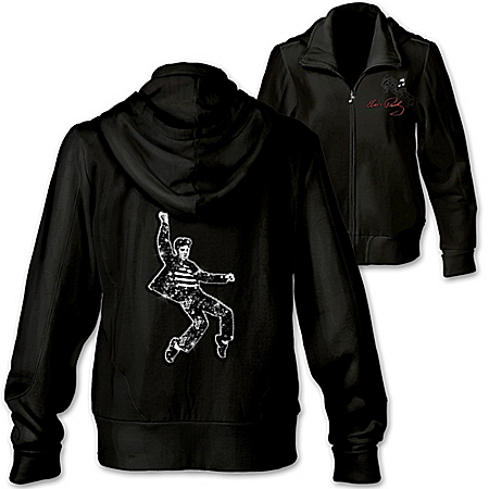 Women's Hoodie: Rockin' With Elvis