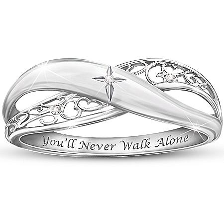 Religious Daughter Diamond Ring: Pure Faith