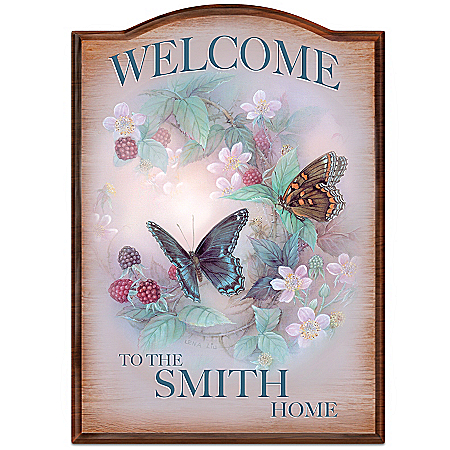 Lena Liu Plates Lena Liu Personalized Welcome Sign Wall Decor