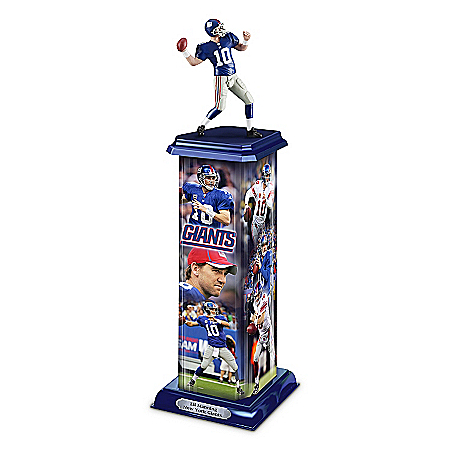 NFL Trophy Sculpture: Eli Manning Legend In Action