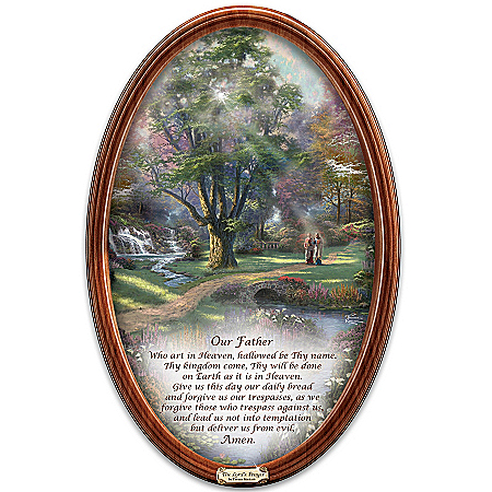 Thomas Kinkade Religious Collector Plate: Walk Of Faith