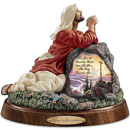 Thomas Kinkade Jesus Christ Sculpture: Prayer In The Garden