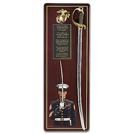 Photo of Wall Decor: USMC Sword Of Honor Wall Decor by The Bradford Exchange Online