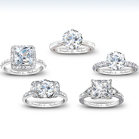 Personalized Diamonesk Ring: Bridal Ring – Personalized Jewelry