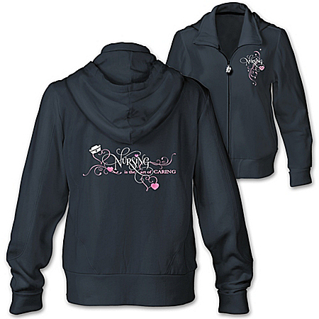 Nursing Women's Hoodie: The Art Of Caring