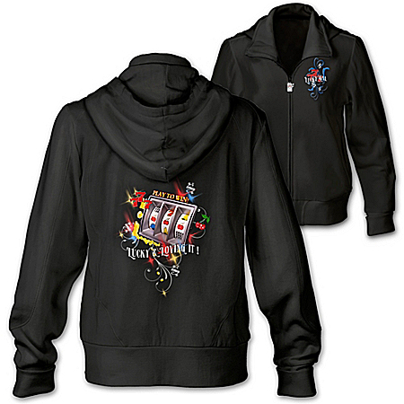 Women's Jacket: Lucky And Loving It Women's Hoodie