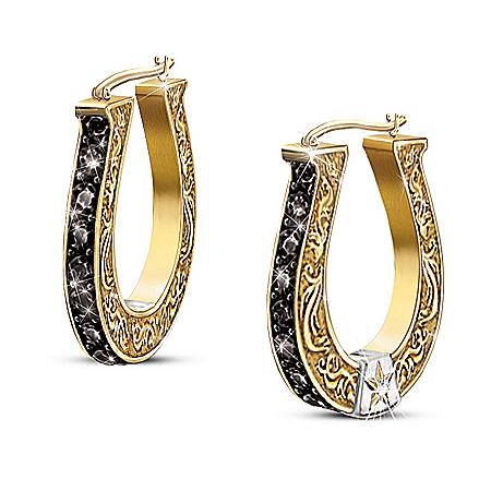 Woman's Earrings: Black Beauty Diamond Earrings