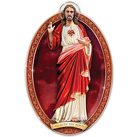 Masterpiece Collector Plate: Sacred Heart Of Jesus