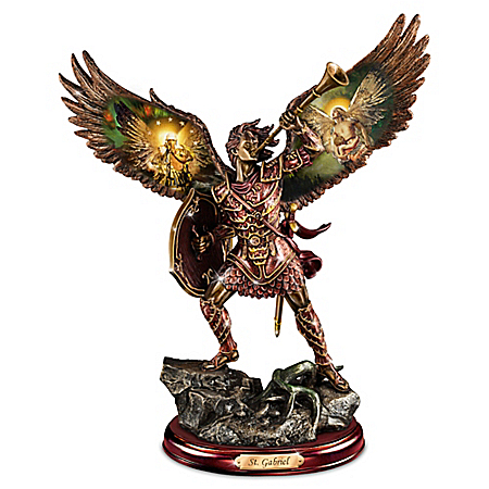 Gabriel: Heavenly Messenger Cold-Cast Bronze Sculpture by The Bradford Exchange Online - Lovely Exchange