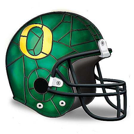 Oregon Ducks Louis Comfort Tiffany-Style Football Helmet Accent Lamp