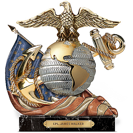 Personalized Marine Sculpture: Honor, Courage, Commitment