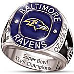 Personalized Champions Commemorative Men's Ring - Baltimore Ravens