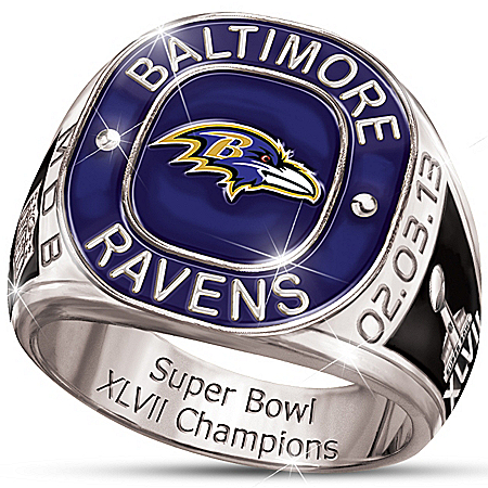 Personalized Champions Commemorative Men's Ring: Baltimore Ravens – Personalized Jewelry