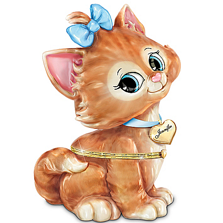 Daughter, You're Purrrfect Personalized Kitten Music Box