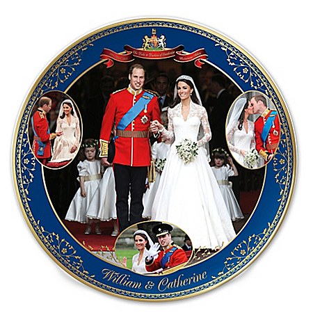 Royal Wedding William & Catherine Collector Plate 116888001