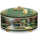 Thomas Kinkade Granddaughter, You're The Light Of My Life Personalized Music Box