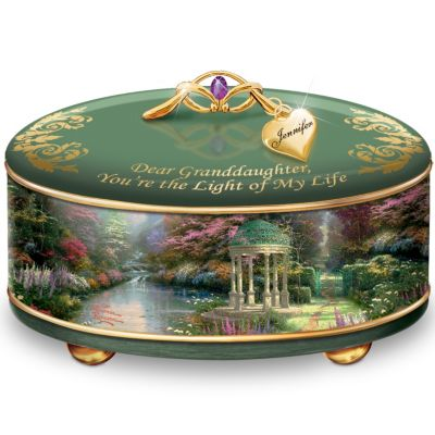 Bradford Exchange Thomas Kinkade Granddaughter, You're The Light Of My Life Personalized
