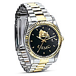 Stainless Steel USMC Semper Fi Watch Gift For Marines