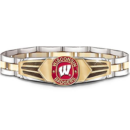 Wisconsin Badgers Stainless Steel Men's Bracelet