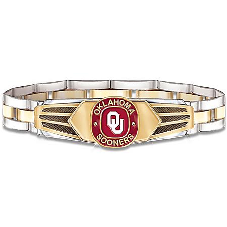 Oklahoma Sooners Stainless Steel Men's Bracelet