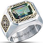 Mystic Topaz Men's Ring - The Legend Of Ireland