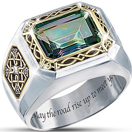 Mystic Topaz Men's Ring: The Legend Of Ireland