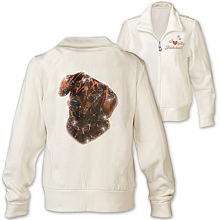Women's Jacket: Doggone Cute Dachshund