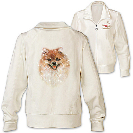 Women's Jacket: Doggone Cute Pomeranian