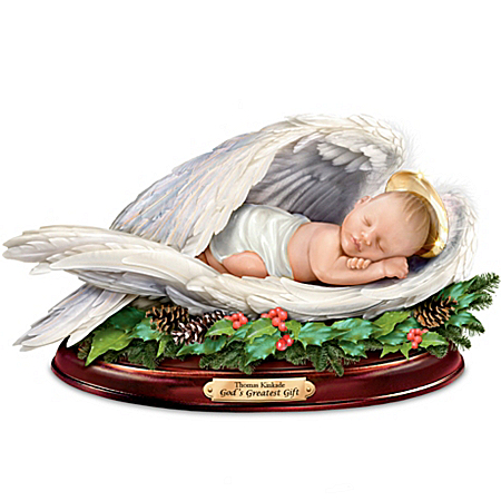 Sculpture: Thomas Kinkade Christmas Blessing Sculpture from The Bradford Exchange Online Product Image