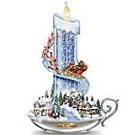 Table Centerpiece - Thomas Kinkade Warm Glow Of Christmas Table Centerpiece