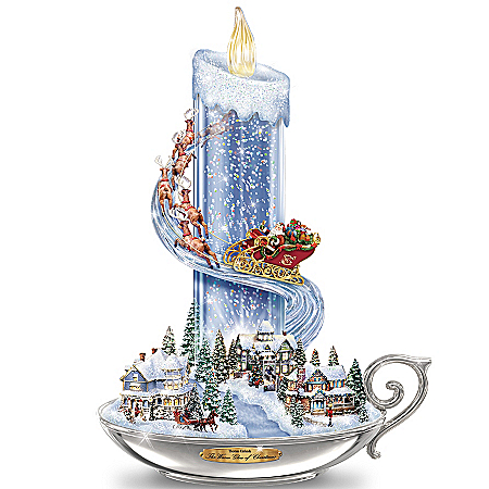 Table Centerpiece: Thomas Kinkade Warm Glow Of Christmas Table Centerpiece by The Bradford Exchange Online - Lovely Exchange