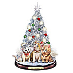 Tabletop Christmas Tree - A Meow-y Christmas To All Tabletop Christmas Tree