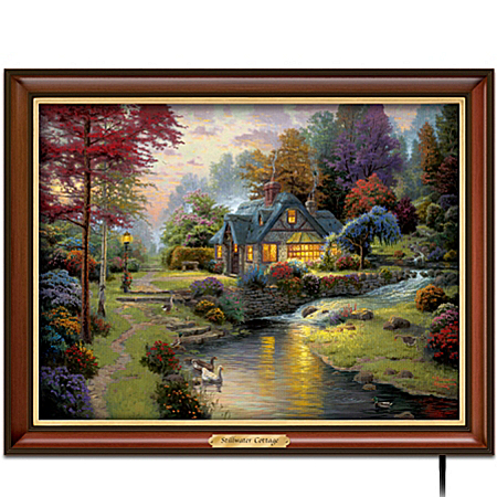Thomas Kinkade Stillwater Cottage Canvas Print Wall Decor